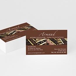 Carte de Visite Professionnel Pâtissier Chocolatier