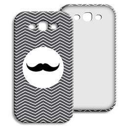 Coque Samsung Galaxy S3 - Chevrons Blancs - 1