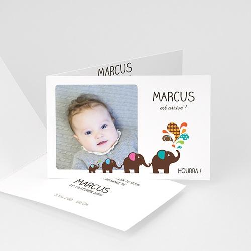 Faire-part naissance garçon Marcus fait son cirque