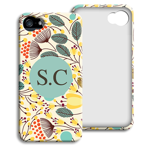 Accessoire tendance Iphone 5/5s  - Fleurs jaunes 23919