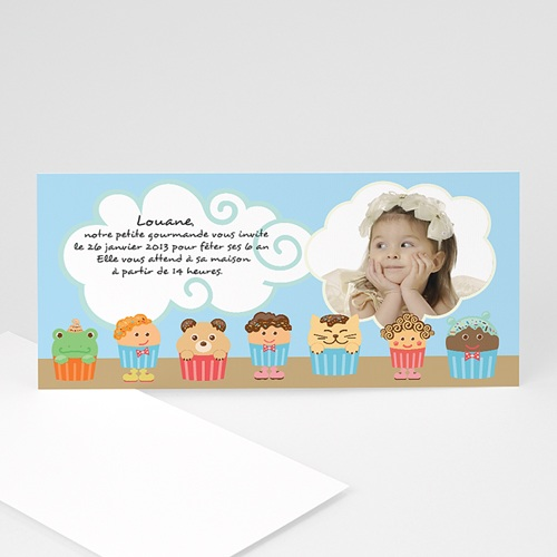Invitations Anniversaire Fille - Muffins 2394 thumb