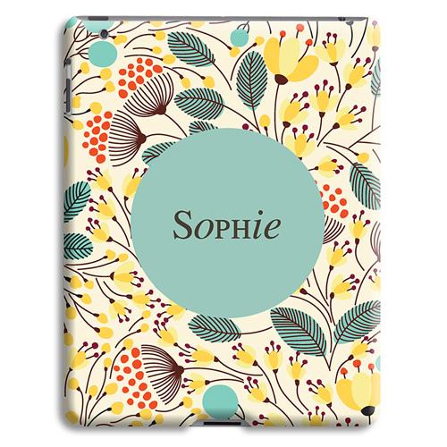 Coque iPad 2 - Fleurs jaunes 23940