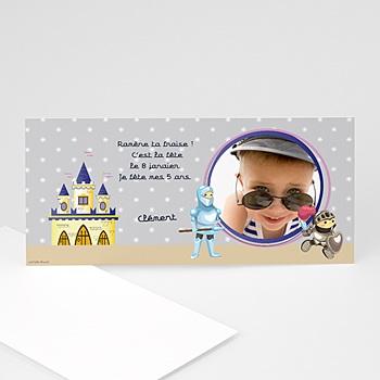 Carte invitation anniversaire garçon chevalier personnalisable