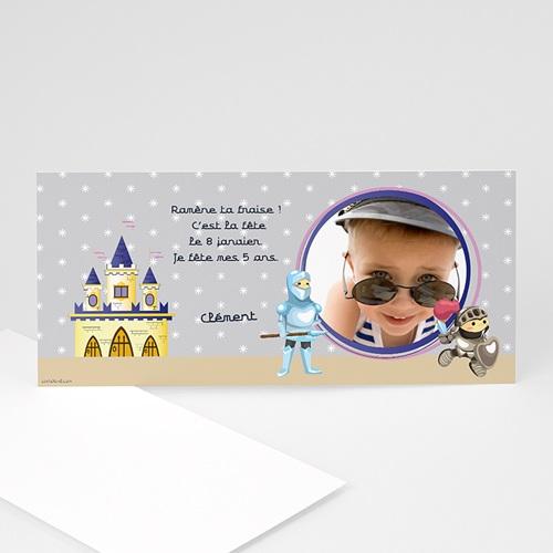 Carte invitation anniversaire garçon Chevalier