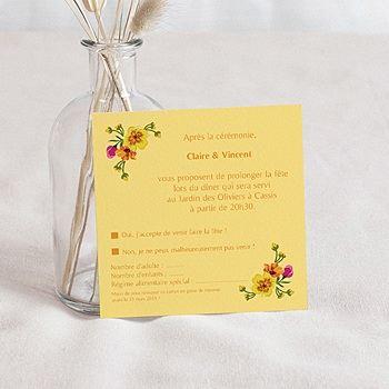 Carton Invitation Personnalisé - Style Printanier - 1