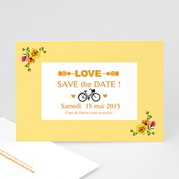 Save the date mariage Style Printanier