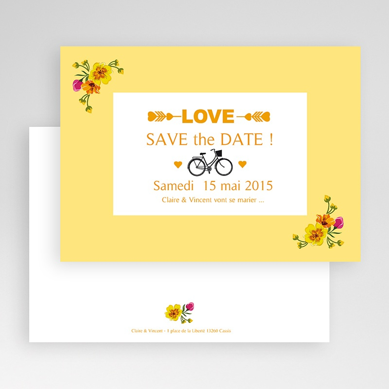 Save the date mariage Style Printanier gratuit