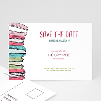 Créer soi même save the date mariage gourmand