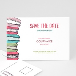 Save the date Mariage Gourmand