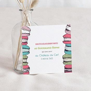 Carton Invitation Personnalisé - Gourmand - 1