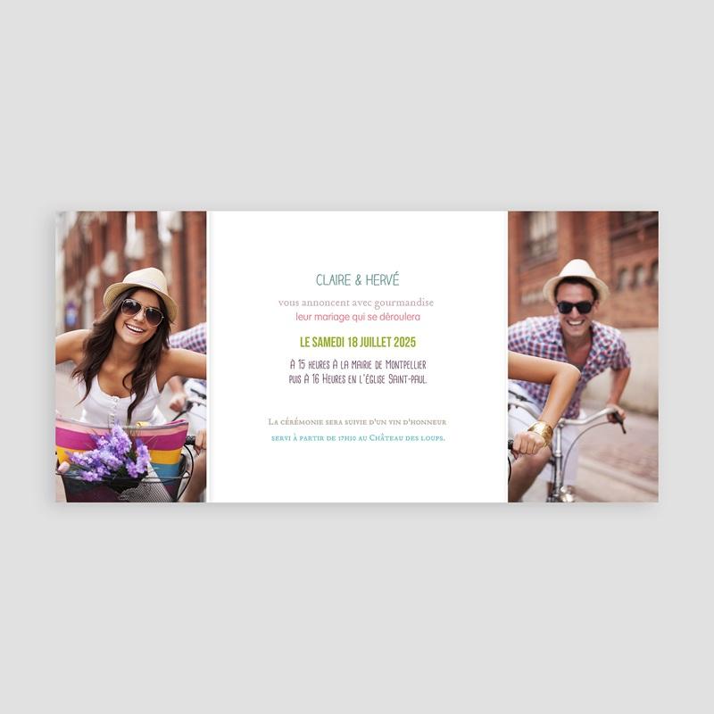 Faire part mariage gourmandise - Gourmandise 24184 thumb