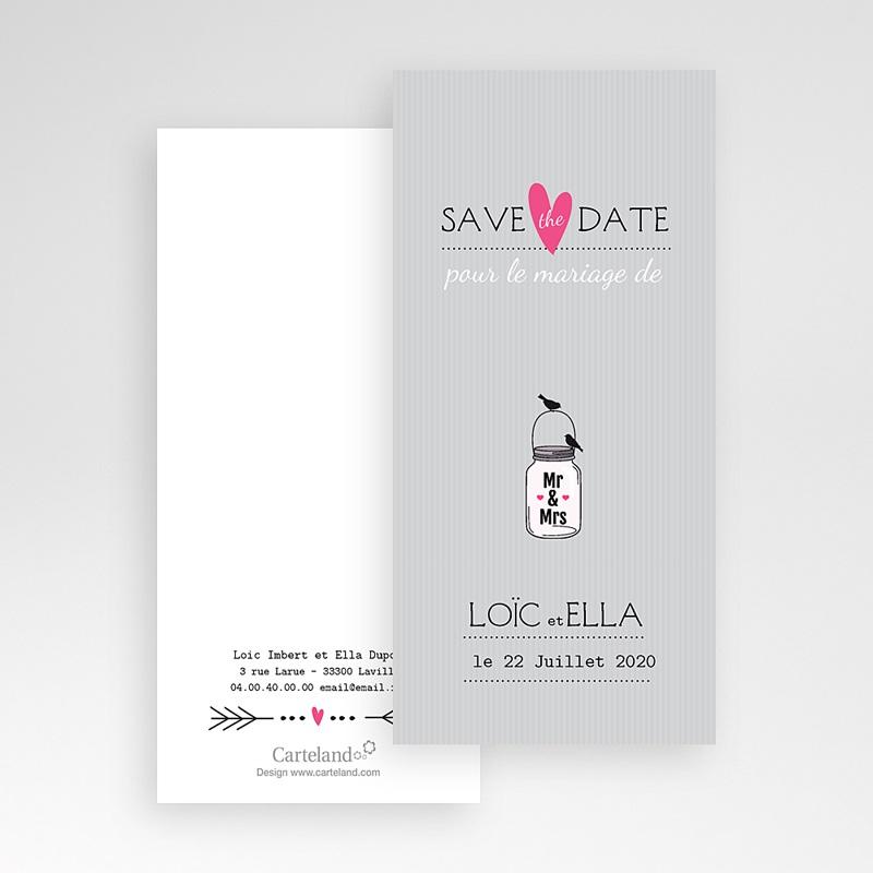 Save The Date Mariage Pots d'amour pas cher