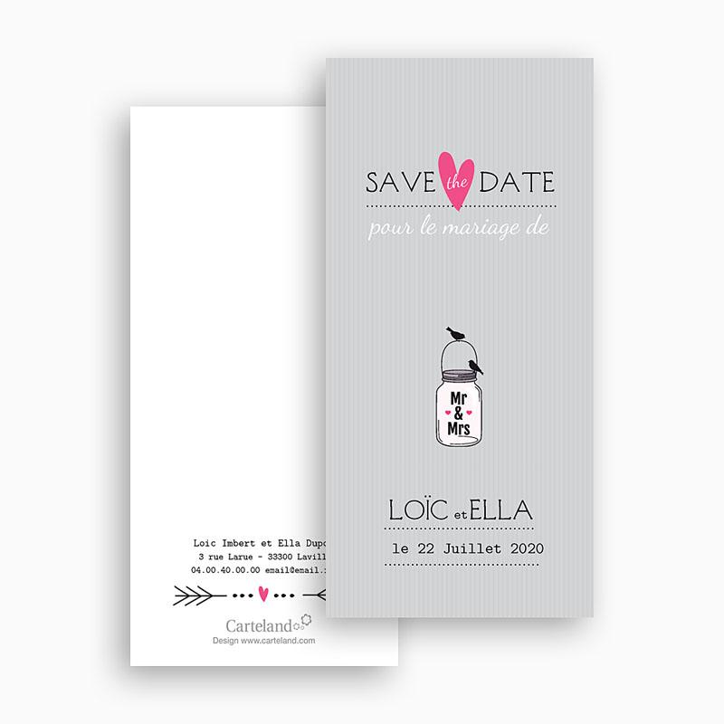 Save The Date Mariage Pots d'amour gratuit