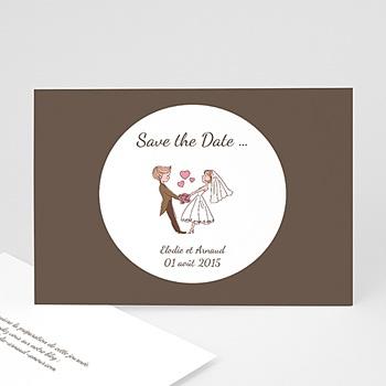 Save the date mariage vive les mariés