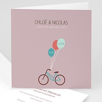 Faire Part mariage vintage - A bicyclette - 1
