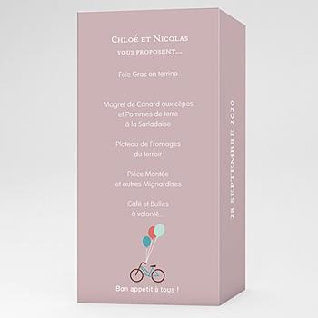 Menu mariage a bicyclette personnalisable