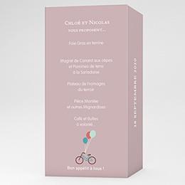 Menu Mariage A bicyclette