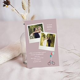 Remerciements Mariage A bicyclette