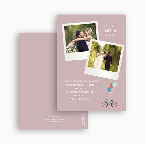 Remerciements Mariage Personnalisés A bicyclette gratuit