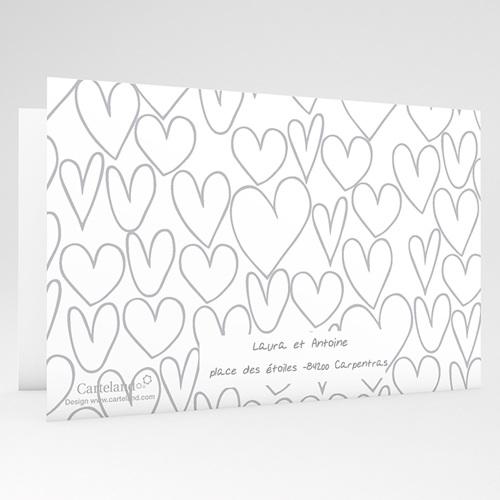 Faire-Part Mariage - Coeurs dessinés 24299 thumb
