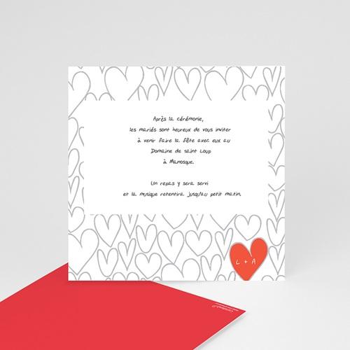 Carton Invitation Personnalisé Coeurs dessinés