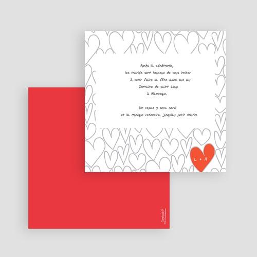 Carton Invitation Personnalisé Coeurs dessinés gratuit