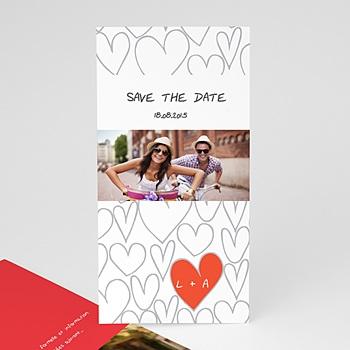 Création save the date mariage coeurs dessinés