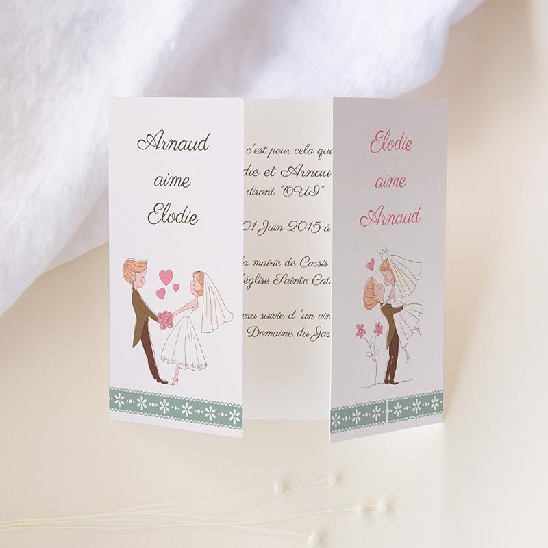 Faire Part mariage humoristique - Vive les mariés 24335 thumb