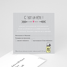 Invitations Pots d'amour