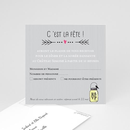 Carton Invitation Personnalisé Pots d'amour