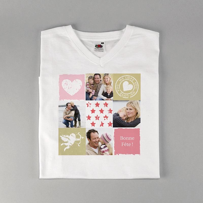 Tee-Shirt Personnalisé Photo Je t'aime à la pelle