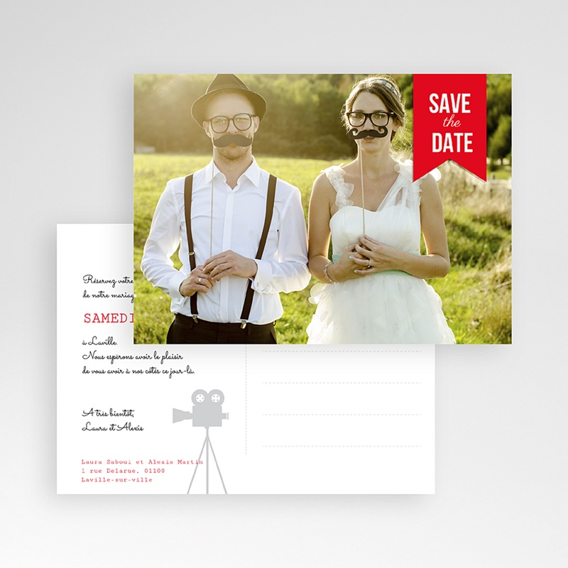 Save the date mariage Photo Booth pas cher