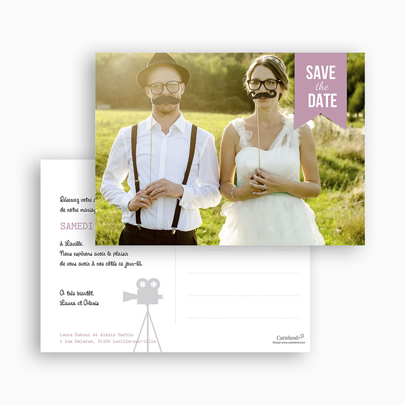 Save the date mariage Photo Booth gratuit