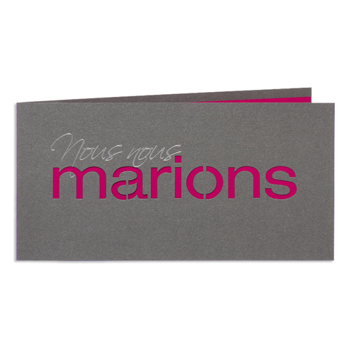 Faire-Part Mariage Traditionnel - Marions - Rose 24449