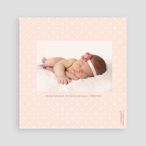 Faire-Part Naissance Fille - Coeurs roses 24473 preview