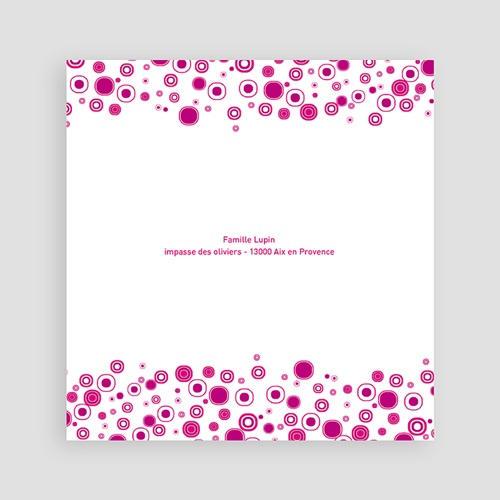 Faire-part Baptême Fille - Fleur rosée 24482 thumb
