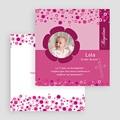 Faire-part Baptême Fille - Fleur rosée 24483 thumb