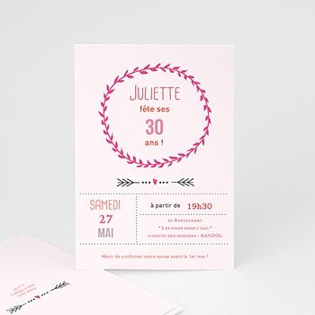 Carte invitation anniversaire adulte Date poudrée