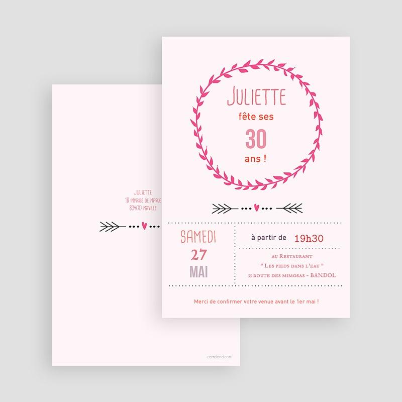 Carte invitation anniversaire adulte Date poudrée gratuit