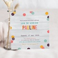 Carte Invitation Anniversaire Adulte Confettis