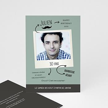 Carte invitation anniversaire 30 ans personnalisé