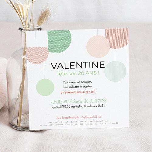 Invitation Anniversaire Adulte - Bulles Déco 24559
