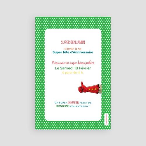 Invitation Anniversaire Garçon - Super Héro masqué 24607 thumb