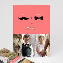 Carte remerciement mariage original Oui familial