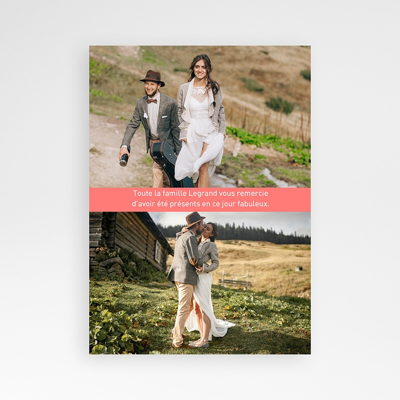 Carte Remerciement Mariage Original Oui familial pas cher