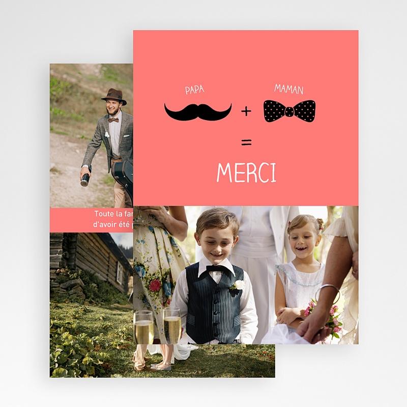 Carte Remerciement Mariage Original Oui familial gratuit