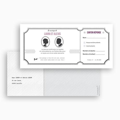 Carton Invitation Personnalisé Ticket  gratuit
