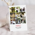 Carte remerciement mariage - Flash Back - 3226