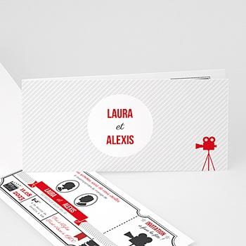 Faire-part mariage Ticket Cinéma