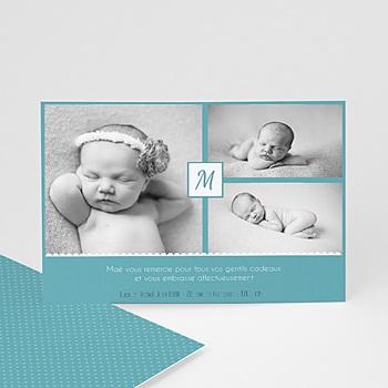Carte de remerciement naissance fille Camille